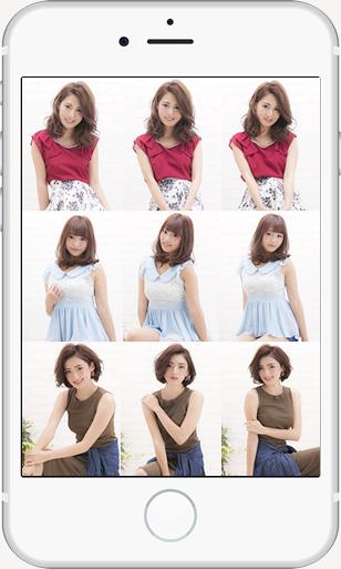 1つのスタイルでも角度や表情が違う写真を並べることでそのスタイルの良さを一覧で表現できる。